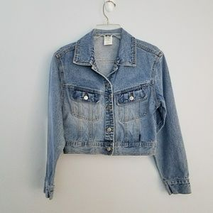 Vintage 90s Cropped Denim Jean Jacket